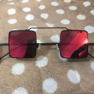 🚚 全新轉賣 Gazer 復古方框墨鏡太陽眼鏡