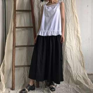 ioz 設計款 cdg寬鬆棉質黑白無袖背心