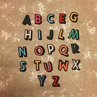 CR Lifestyle 彩色 英文字母布貼 大寫英文字母布貼 補丁 刺繡布貼 有背膠 DIY 手作 手作材料 可愛布貼