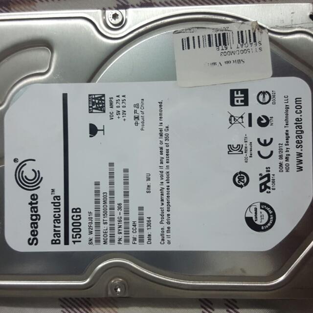 1.5TB Seagate Hard Disk