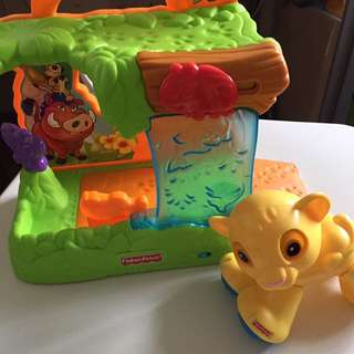 Preloved lion king baby toy