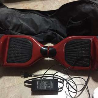 Hoverboard with bag and charger