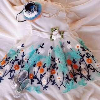 1st Birthday Gown & Headdress