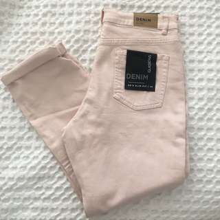 BRAND NEW PINK MOM JEANS