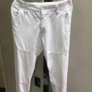 白色縮口褲 30-31腰