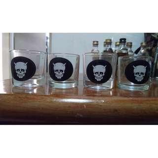shot glasses x 4