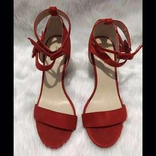 Something Borrowed Double Strap Open Toe Heels