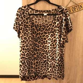 Leopard Bludru Tshirt
