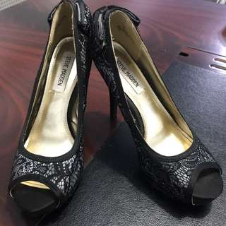 Steve Madden lace bow heels