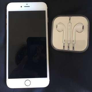 I-phone 6 plus, 金色, 連ear phone, 有盒, 99%new, 冇花, 像新的一樣