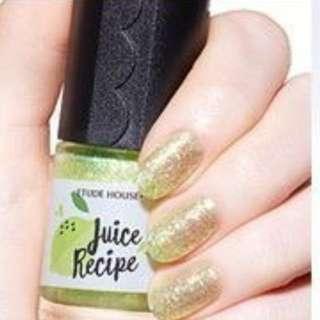 Etude House 綠色檸檬指甲油1+1