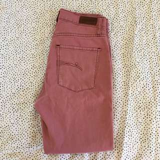 Nobody Dusty Pink Crop 7/8 Jeans - Size 26 8 10