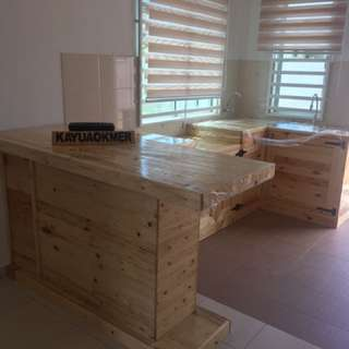 table top kayu pallet