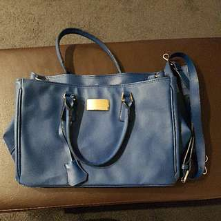 Blue PU Leather Bag