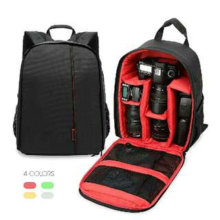 DSLR Camera Padded Backpack Bag Case Waterproof Shockproof Small Bags for Canon Nikon DSLR