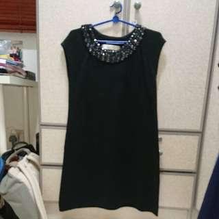 Zara Knitwear Embedded Jewellery Dress