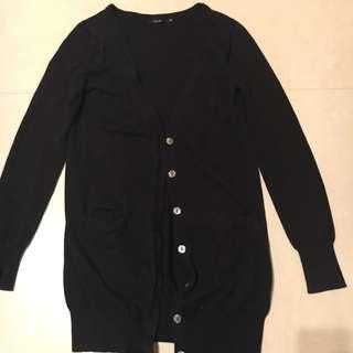 Theme長版針織外套 黑