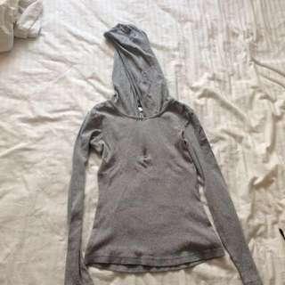 Adidas long sleeve with hood, XS-S