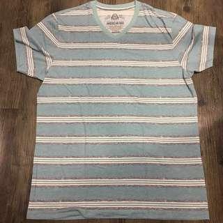 Turquoise V-Neck Shirt