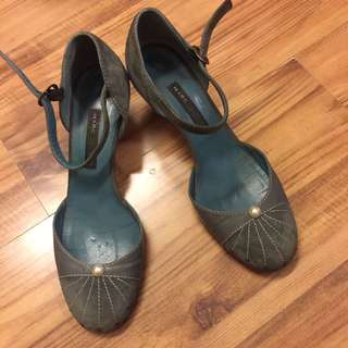 MARC JACOBS牛仔藍底跟鞋36.5