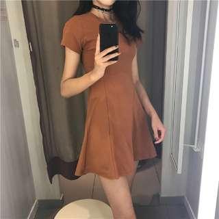 basic brown dress