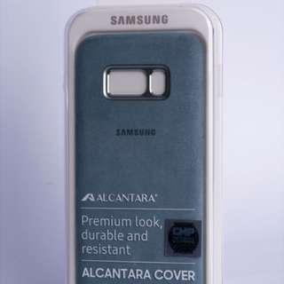 Samsung Alcantara Hard Case S8 MINT original + MAXPRO anti gores fullset