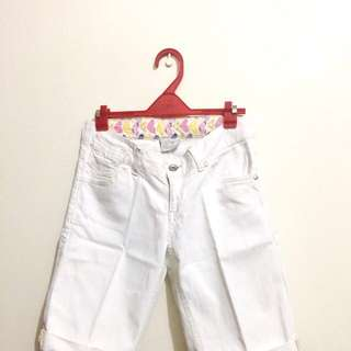 Zara TRF White Cropped Pants