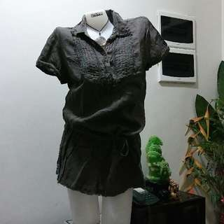 Olive Loose Blouse