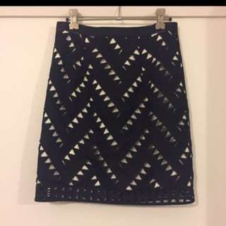 Rodeo Show Cut Out Skirt