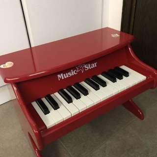 小朋友木鋼琴七成新無需用電