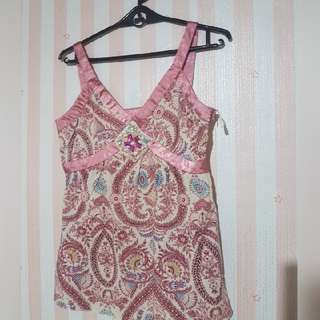 Pink Floral sleeveless