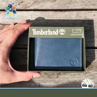 全新 Timberland Men's Leather Wallet with box, Blue