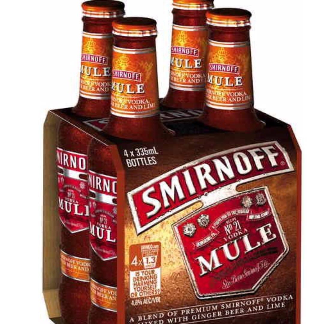 6 bottles Smirnoff Vodka Ginger mix bottle 6x330ml