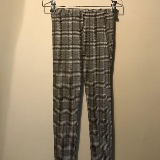 🕊(出清降價)薄款千鳥紋內搭褲✨#百元全新女裝