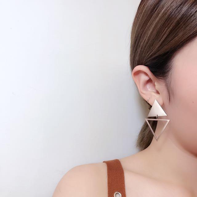歐美時尚幾何圖形垂釣耳環