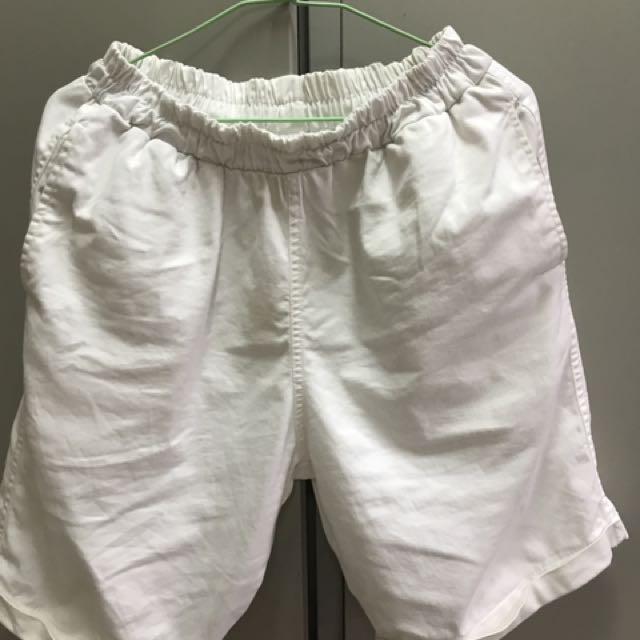 美式休閒短褲 白色 30-32腰