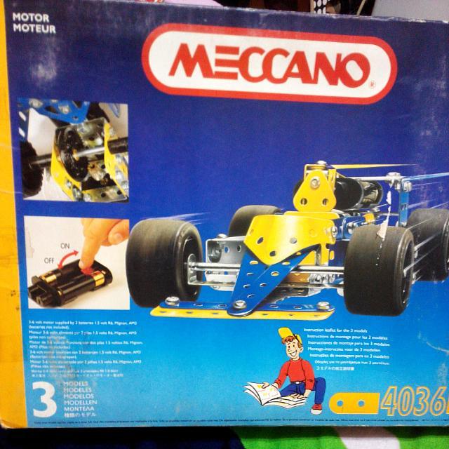 法國meccano 金屬組裝模型賽車
