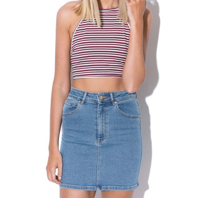 A.brand Denim Skirt Size 8