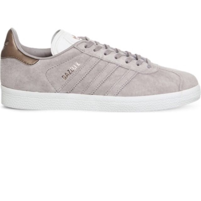ADIDAS Gazelle low top suede trainers (vapor grey white)