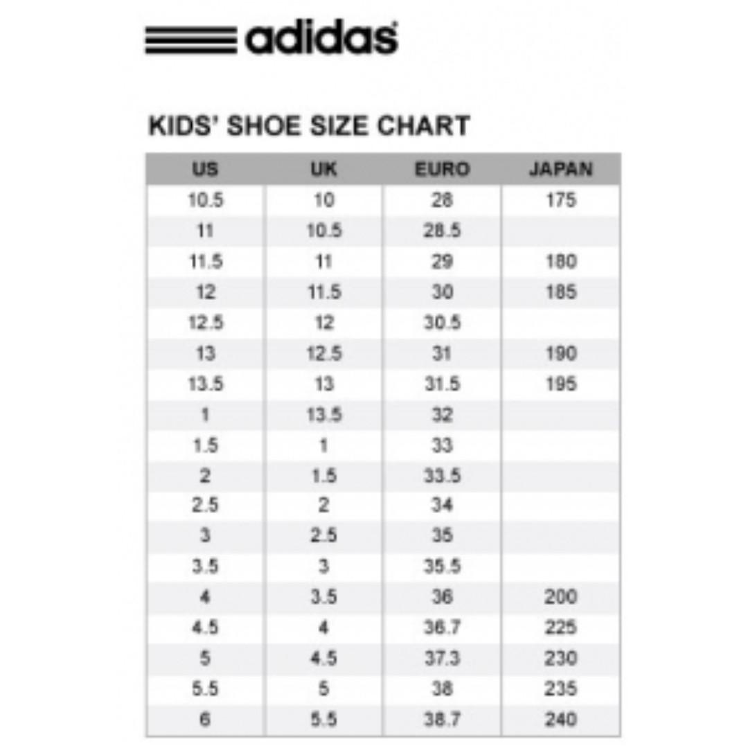 Kid Shoes Sizes Conversion