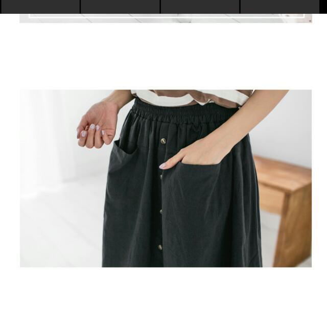 純色棉麻面料排釦造型A字裙轉賣全新M號深藍可換物