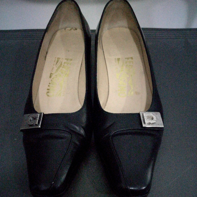 Authentic Ferragamo Black Heels