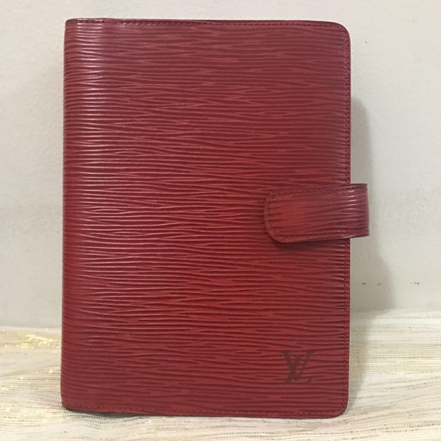 Authentic Louis Vuitton Red Epi Agenda MM