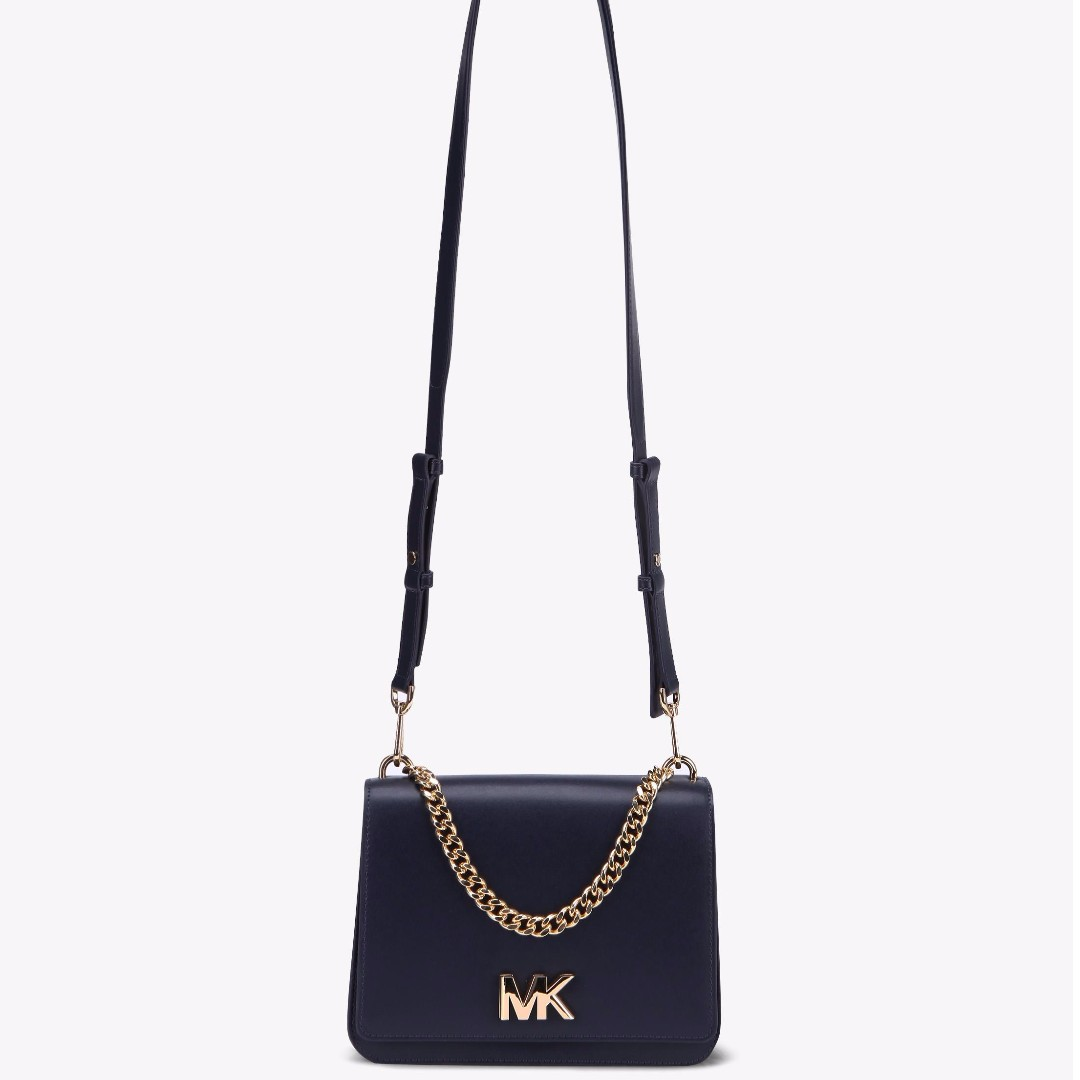 7dcd8ff9f359 Authentic MK Michael Kors Mott Clutch Calf Leather Shoulder Sling ...