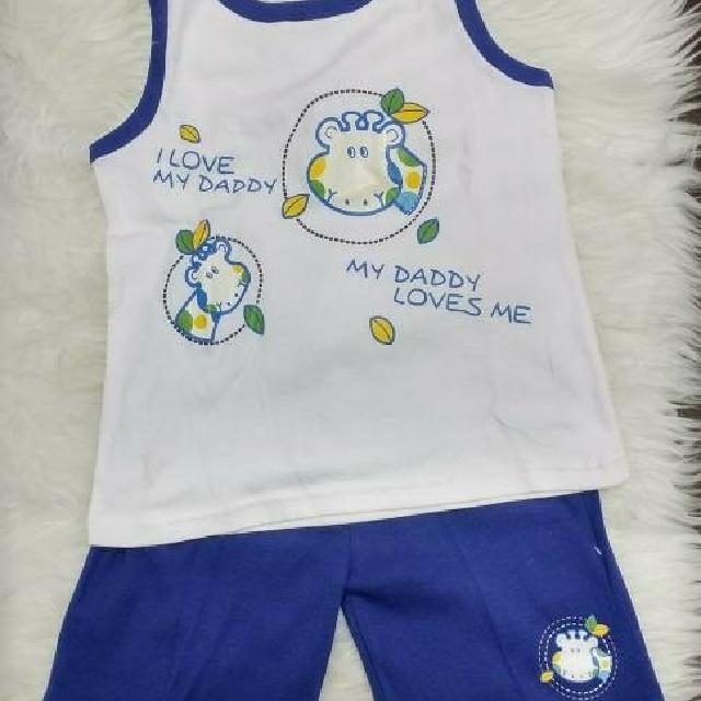 New - Baju Setelan Anak Laki Laki Lengan Buntung Size 5