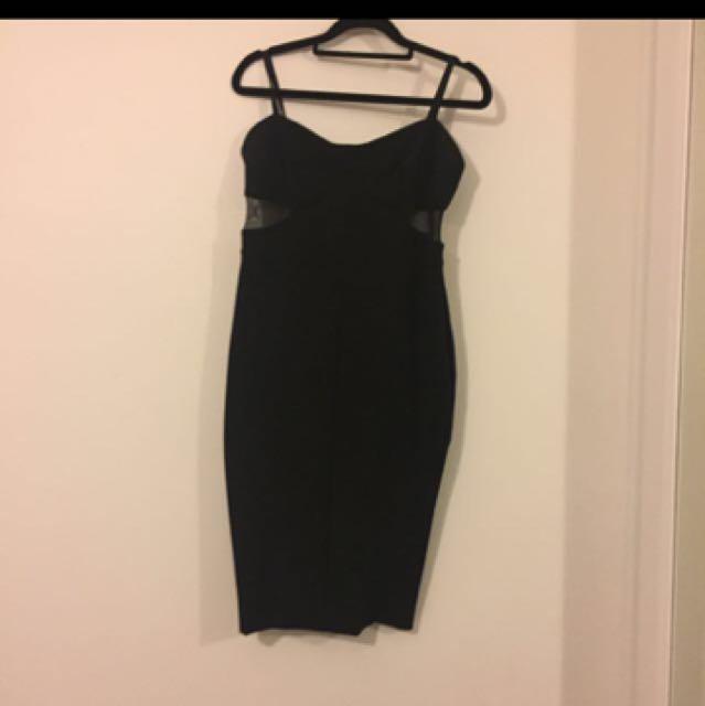 Bec And Bridge Black Bodycon Dress