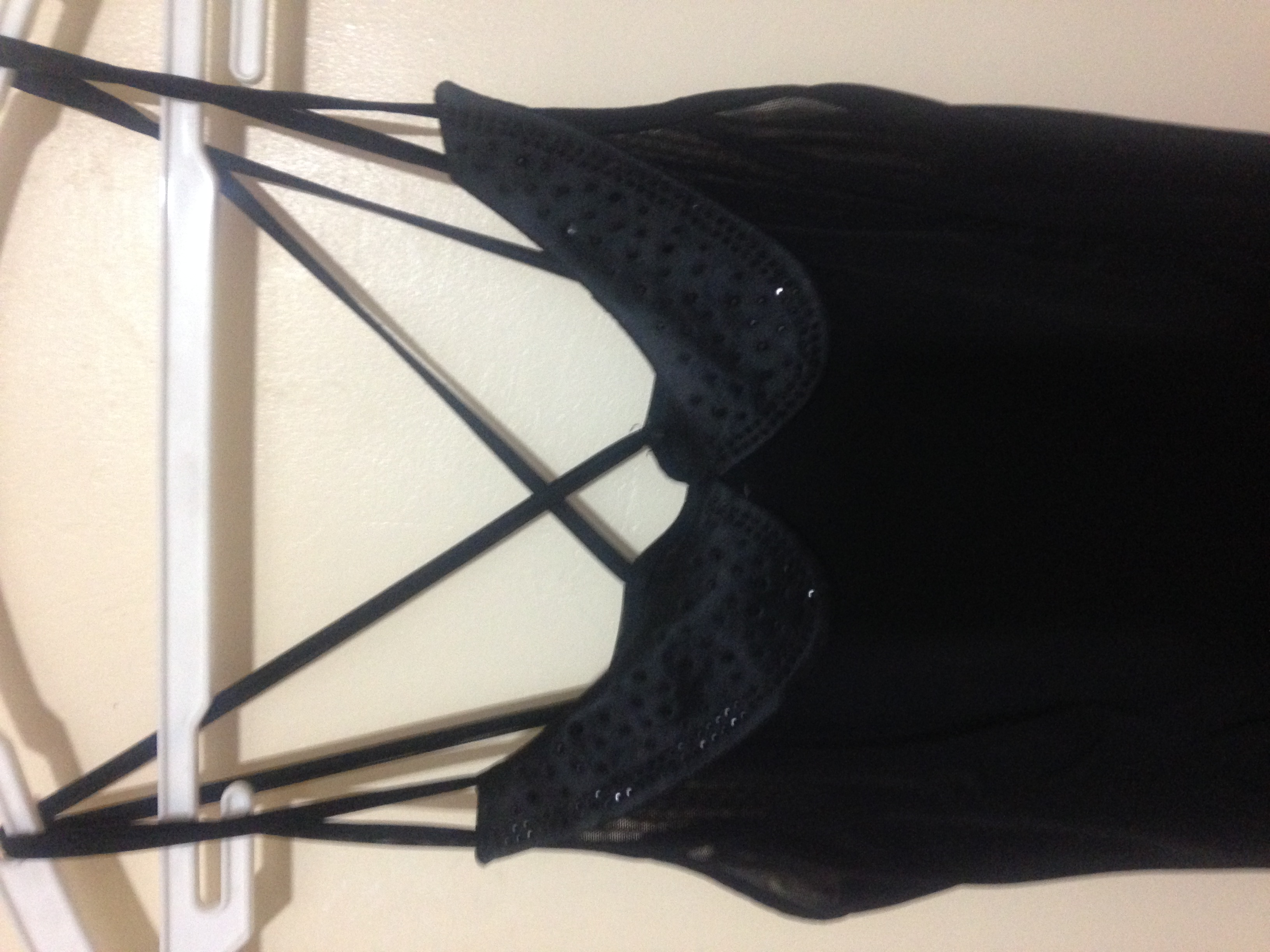 Black strappy top with Studs