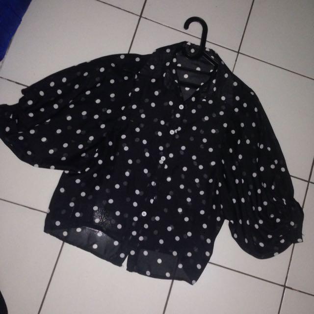 blouse polkablack