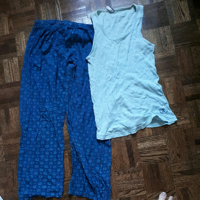 Blue PJ set