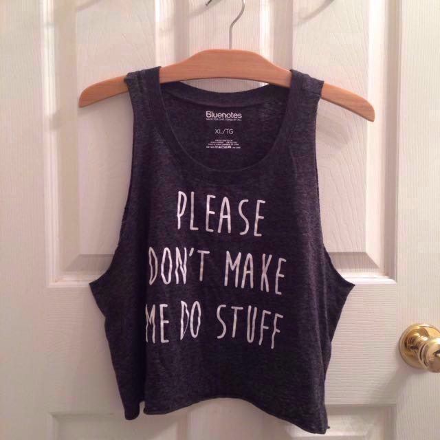 BLUENOTES Black/Grey Tank top/Croptop/Shirt/Clothes/Clothing